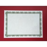 Premium Blank Certificate Paper , Professional Green Border Certificate Paper