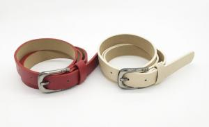 China FK12098 Matte PU Leather Belt , Womens Fashion Belts With 2.2cm Width on sale
