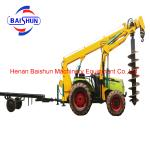 Cost effective wholesale tractor post hole digger pole erection machine