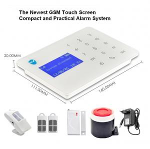 China SMS Remote control touch keypad LCD Screen PIR Sensor Mobile call GSM Wireless security alarm system with APP operation on sale
