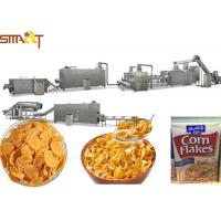 Automatic Corn Flakes Production Line Breakfast Cereal Corn And Wheat Flakes Millet Flakes Making