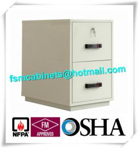 China Waterproof Fire Resistant File Cabinets , Fire Safe File Cabinet With 2 Drawer on sale