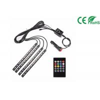 Car LED Strip Light Kit 4pcs DC 12V Multi Color Music Light With Sound Active