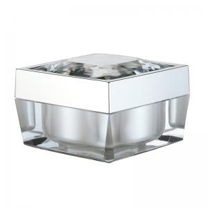 China Square Acrylic PMMA PP 30g Cosmetic Packaging Jars on sale