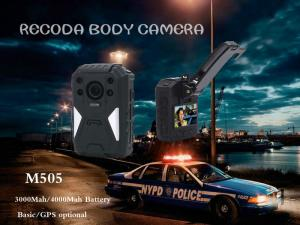 China RECODA M505 GPS Tracking Police Waterproof Body Worn Camera Night  Vision on sale