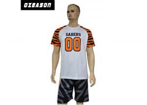 China Quick Dry Sublimated Football Jerseys , Custom Team Football UniformsTiger Strip on sale