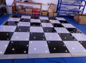 China Black / White Blinking LED Starlit Dance Floor 2ft x 2ft / 2 x 4ft on sale