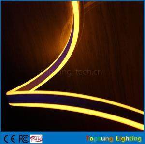China hot sale 110V double side emitting yellow led neon flexible strip for outdoor on sale