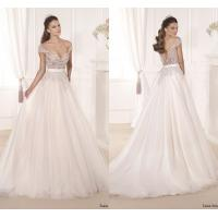 Lace Applique Bridal Wedding Dresses Sweep Train for Womens