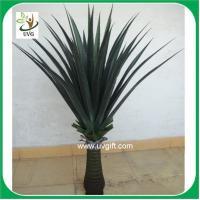 China UVG PLT09 wholesale everygreen PU tropical plant potted sisal hemp fake outdoor plants on sale