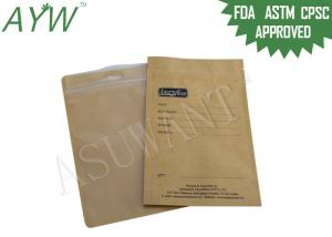 China One Side Clear Small Kraft Paper Bags For Areca Nut, OEM Kraft Stand Up Pouches With Window on sale