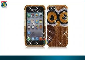 China Luxury Sparkling 3d Bling Diamond Pearl Hard Case For Iphone 5 Protective Case OEM on sale
