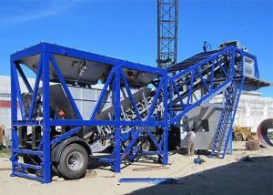 China Commercial 50m3/H Large Mobile Concrete Plant / Wet Mix Concrete Batch Plant on sale