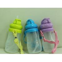 China 120ml, 240ml (8oz), 300ml Heat Resistant Baby Silicone Feeding Drinking Bottle with Straw on sale