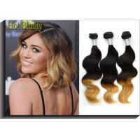Body Wave Peruvian 5A Human Hair Extension For Lady  3 Tone Body Weaving