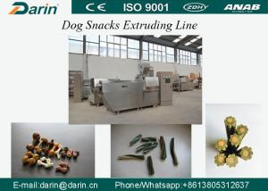 China CE Approved Automatic  Dog Food Extruder with Capacity 200-250kg , Pet Treats / Dog Chew Food Processing Line on sale
