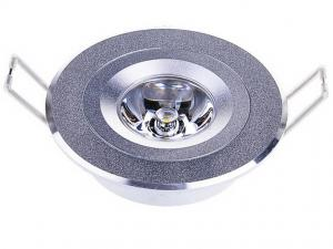 China Home 1 x 3W Polished Aluminum alloy recessed led ceiling light fixture 150 - 200 lumens on sale