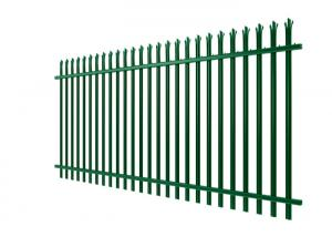 China Green PVC Coated Palisade Fence  / Euro Fence For Colleges And Universities on sale