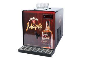 Quality Black Color Powder Coated Shot Chiller Machine , Liquor Chiller Dispenser 200w for sale
