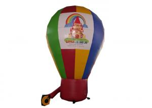 China Customized Logo Banner Rainbow Inflatable Advertising Balloons For Exhibition on sale
