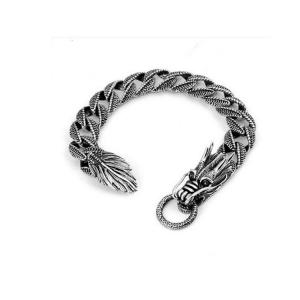 China Thai Vintage Sterling Silver Dragon Bracelet Men's Jewelry (B111702) on sale
