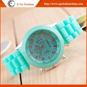 China Candy Color Rose Gold Silicone Watch Geneva Watches Jelly Watch OEM Kids Watch Unisex New on sale