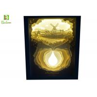 Pastoral Scenery 3D LED Light Box Shadow Retail Sculpture Lamp Direct Charge