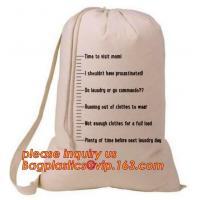 Custom printed nylon canvas biodegradable baby 100% organic cotton laundry bag,large cotton drawstring laundry bag pack