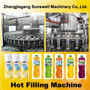 China Automatic Juice Filling Machine 2000BPH - 20000BPH With Rinsing / Filling / Capping Process on sale