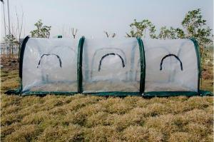 China PE Garden Shade Netting 300x100x100cm Three Doors in the side Pop up Grow Tunnel on sale