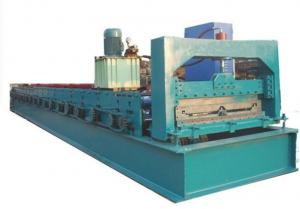 China High Speed Step Tile Roll Forming Machine / Tiles Making Machine With 19 Rollers on sale