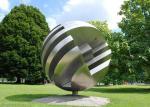 China Large Garden Ball Outdoor Metal Sculpture Stainless Steel Sculpture wholesale
