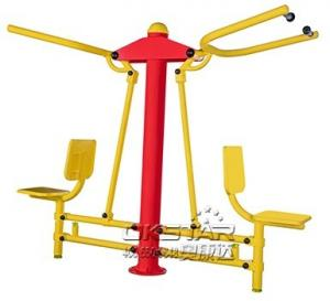 China Outdoor Fitness Equipments-ST Garden Exercise Equipment Outdoor Pull Chair For Elderly on sale