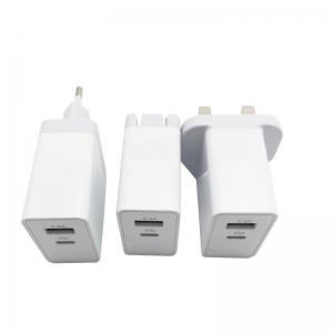 China 30W USB C Wall Charger Dual Port QC 3.0 5V 2.4A Universal Power Adapter on sale