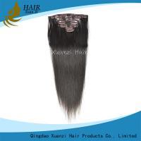 Nature Black  Peruvian Human Hair Clip In , Brazilian Wavy Hair Extensions