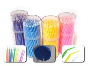 China Plastic Disposable Dental Supplies Dental Micro Brush Applicator For Between Teeth on sale