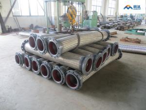 China a tubulação SS304 do metal da extremidade da flange trançou a mangueira de aço inoxidável do metal flexível on sale