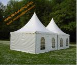 Outdoor UV Resistance Fireproof 4x4m Powder Coated Steel Party Event  Pagoda Tent