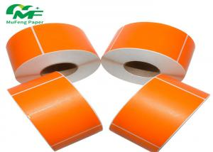 China Full Color Printing Blank Adhesive Label Rolls Direct Thermal Barcode Labels Stickers on sale