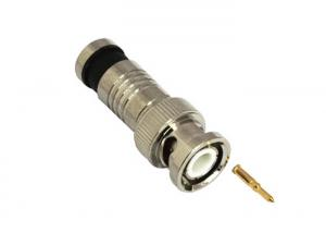 China RG6 Compression CCTV BNC Connector / RF Connector For Coaxial Cable on sale