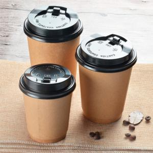 China PE Coated  8oz Double Wall Kraft Paper Cups For Takeout Packaging on sale
