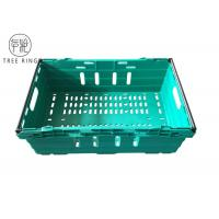 Perforated Sides Nestable Bale Arm Crate Trays Containers With Stacking Bars 590 * 400 *192