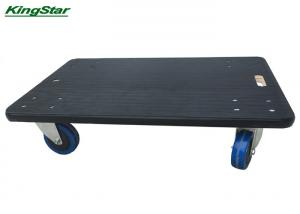 China Anti Slip Rubber Matted Plywood Small Furniture Dolly Pu Caster 450kg Capacity on sale