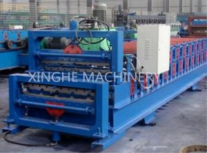 China Africa Model  Roof Panel Roll Forming Machines , Aluminium Sheet Metal Rolls on sale