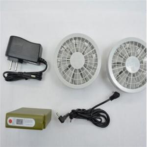 China Best price 12v high speed low noise dc cooling fan with battery pack for ceramic cushion on sale