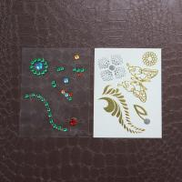 China Decoration Rhinestone Tattoo Stickers , Self Adhesive Rhinestones For Face on sale