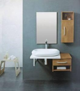 China bamboo bathroom cabinet on sale