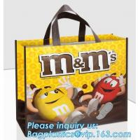 Fast Delivery Custom Printed Your Own Brand Laminated Non Woven Bag, round bottom PP laminated bopp laminated non woven