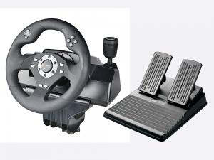 China Car Video Game Steering Wheel Controller Dual Vibra ABS Material For P3 / P2 / PC on sale