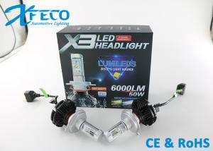 Quality  6000LM Led Headlight Conversion Kits H4 HB2 Canbus Auto Headlight 3000k 6500K for sale